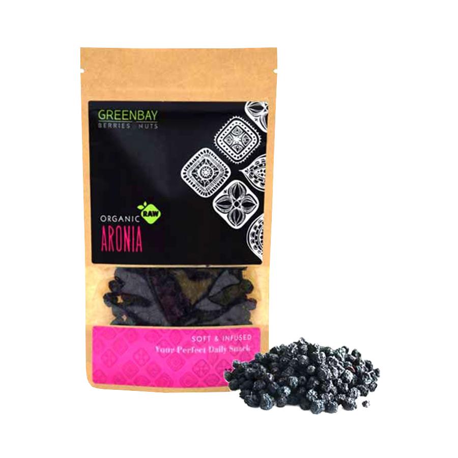 Αρώνια Aronia Berries 125g | Ωμά Βιολογικά Αποξηραμένα Φρούτα | GreenBay