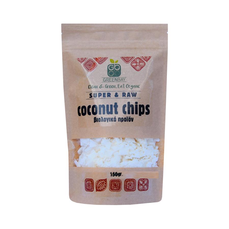 Coconut Chips 150g | Ωμές Βιολογικές Νιφάδες Καρύδας | GreenBay