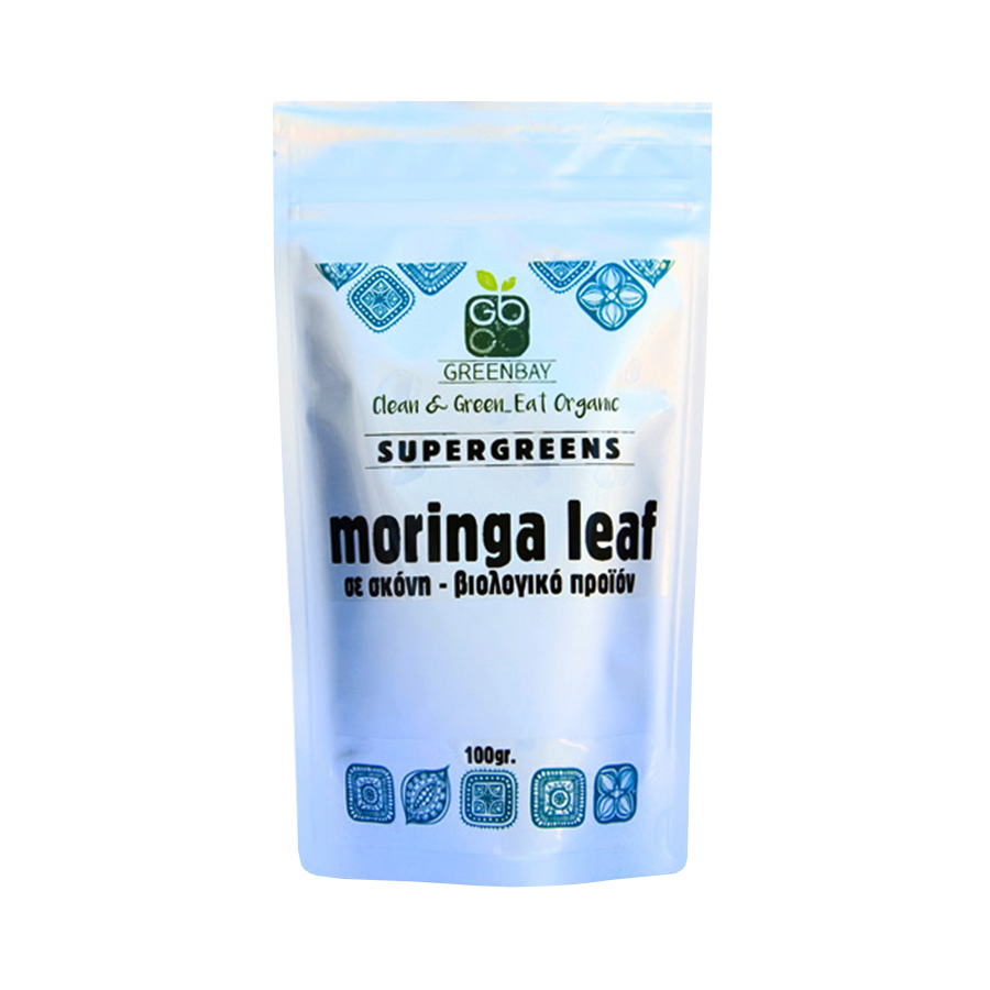 Moringa Leaf σε Σκόνη 100g   Βιολογικά Φύλλα Μορίνγκα   GreenBay