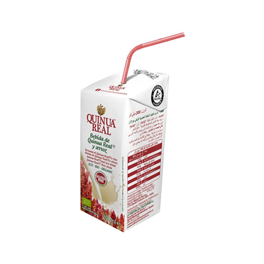 Μίνι Ρόφημα Βασιλικής Κινόα και Ρυζιού 200ml | Βιολογικό Ρόφημα Χωρίς Γλουτένη |  Quinua Real