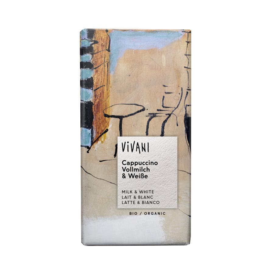 Σοκολάτα Γάλακτος Cappuccino 100g | Βιολογική Σοκολάτα με Καφέ Εσπρέσο | Vivani