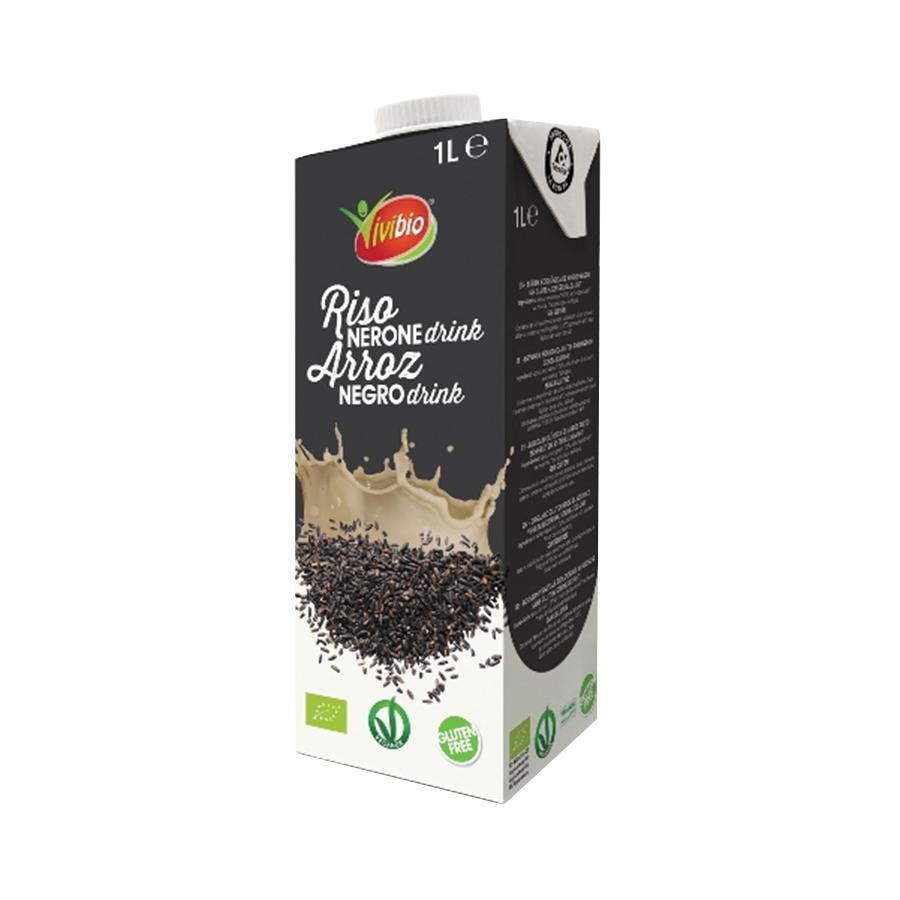 Gluten Free Black Brown Rice Drink 1lt - Vivibio