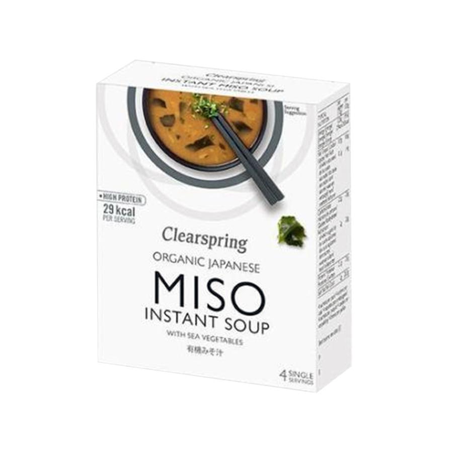 Βιολογική MISO Σούπα Στιγμής με Χόρτα Θαλάσσης (4x10g) 40g | Clearspring