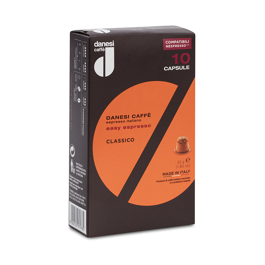Easy Espresso Classico | Κάψουλες Καφέ Espresso  (10τμχ)  52g | Danesi