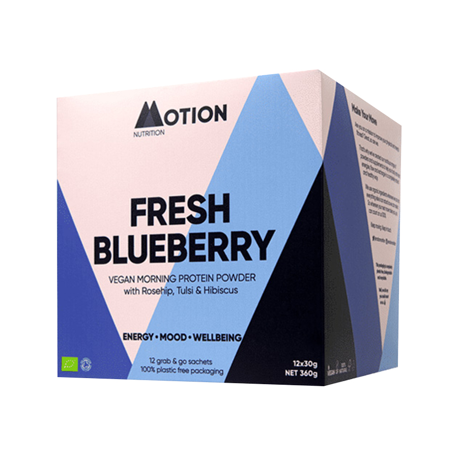 Vegan Πρωτεΐνη για Ενέργεια το Πρωί Fresh Blueberry 360g   Motion Nutrition
