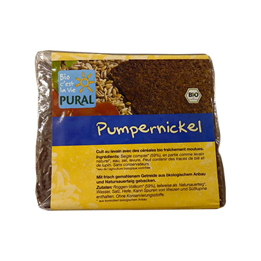 Organic Rye Bread Pumpernickel in Slices 375g | Vegan Sugar Free |Pural