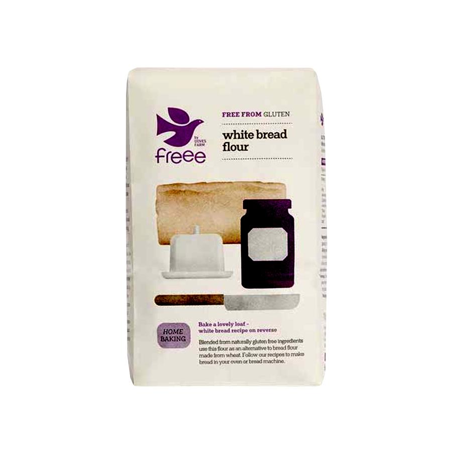 White Bread Flour Gluten Free 1Kg   Vegan Vegetarian   Doves