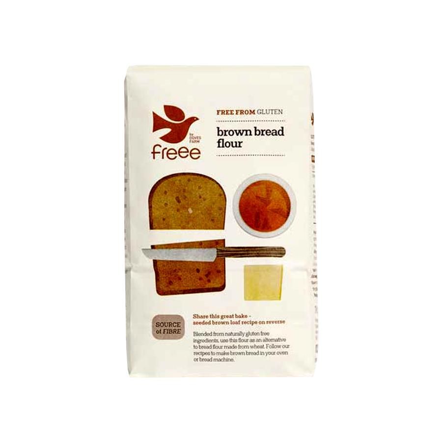 Brown Bread Flour Gluten Free 1Kg | Vegan Vegetarian | Doves