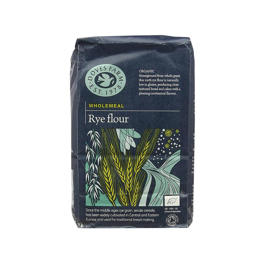 Wholegrain Rye Flour 1Kg | Organic Vegan | Doves