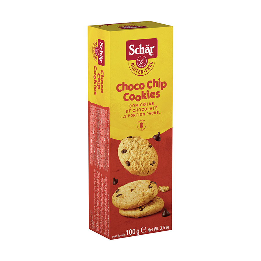 Choco Chip Μπισκότα με Κομματάκια Σοκολάτας 100g | Χωρίς Γλουτένη Vegetarian | Dr Schar
