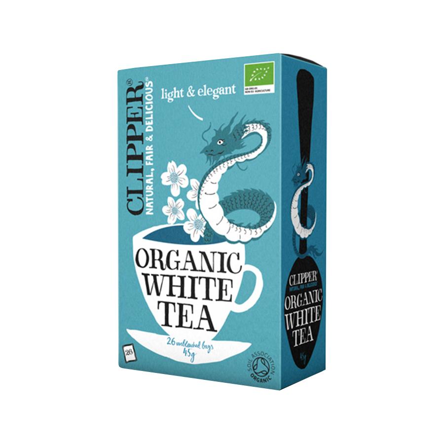 White Tea 26 bags 45g   Organic Vegan No Added Sugar   Clipper