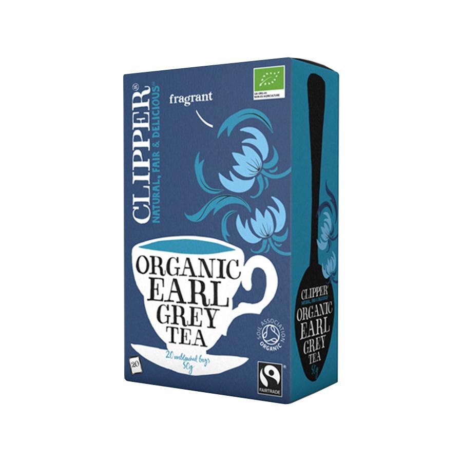 Earl Grey Tea 20 bags 50g | Organic Vegan No Added Sugar | Clipper