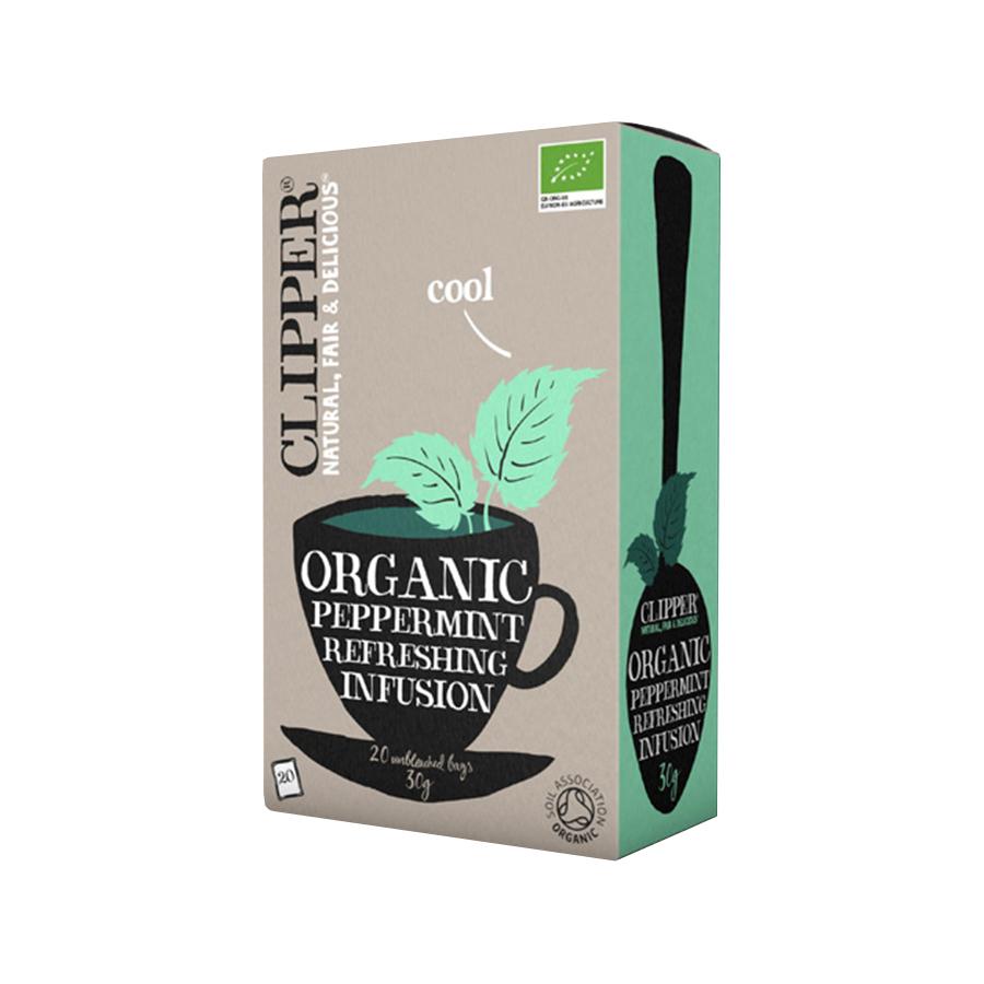 Peppermint Infusion 20 bags 30g | Organic Vegan No Added Sugar | Clipper