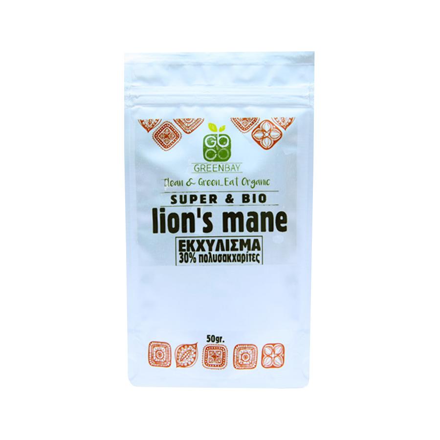 Εκχύλισμα Μανιταριού Lion's Mane  (8:1) 50g | Βιολογικό Vegan Μακροβιοτικό | GreenBay