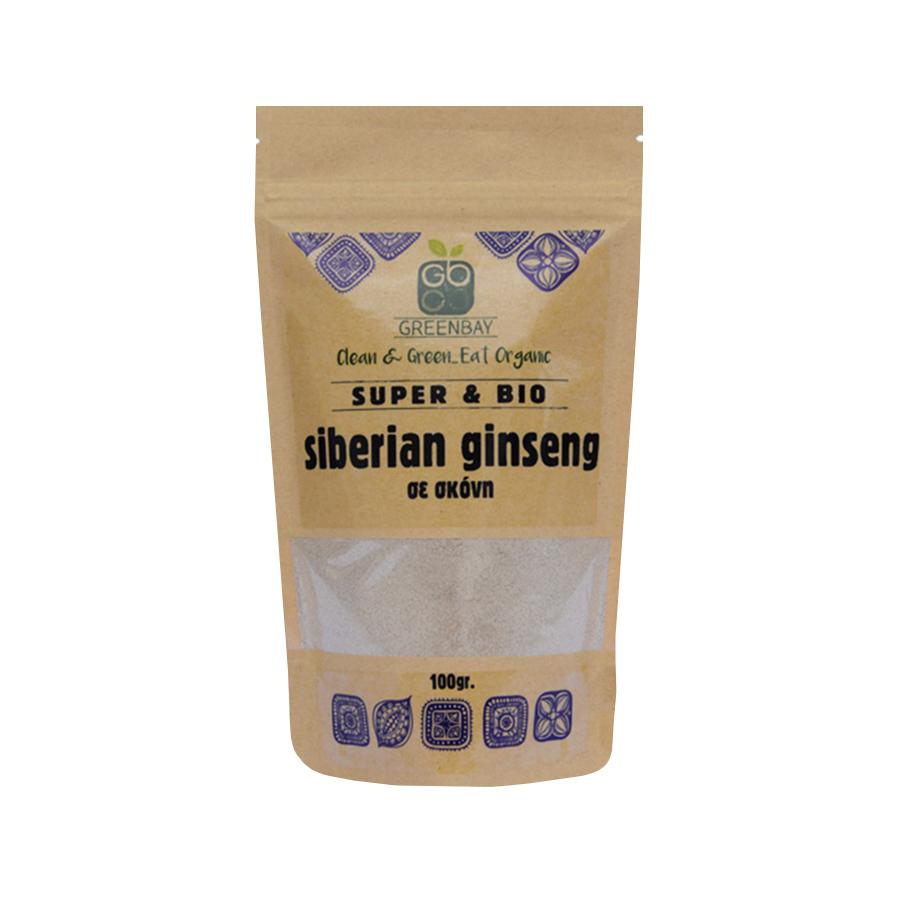 Ρίζα Σιβηριανού Ginseng σε Σκόνη 100g | Βιολογική Χωρίς Ζάχαρη Vegan | GreenBay