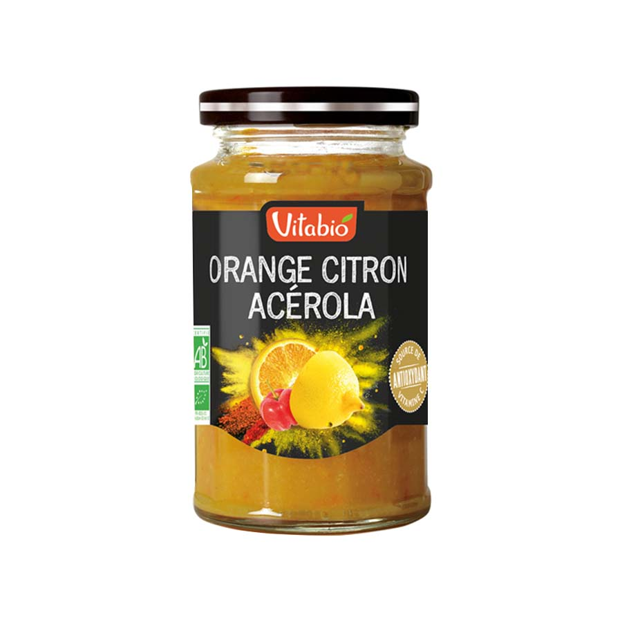 Orange Lemon Acerola Antioxidant Spread 290g | Organic Spread  No Added Sugar Vegan Vegetarian | Vitabio