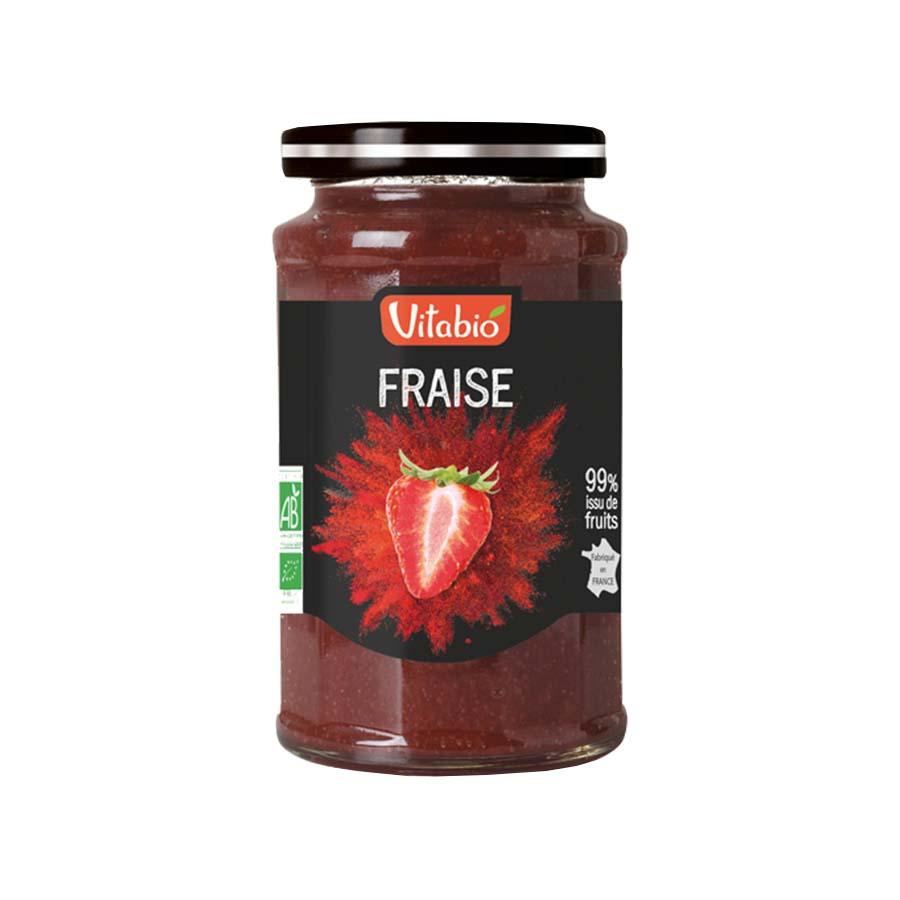 Επάλειμμα Φράουλας 290g | Βιολογική Μαρμελάδα  Χωρίς Ζάχαρη | Vitabio
