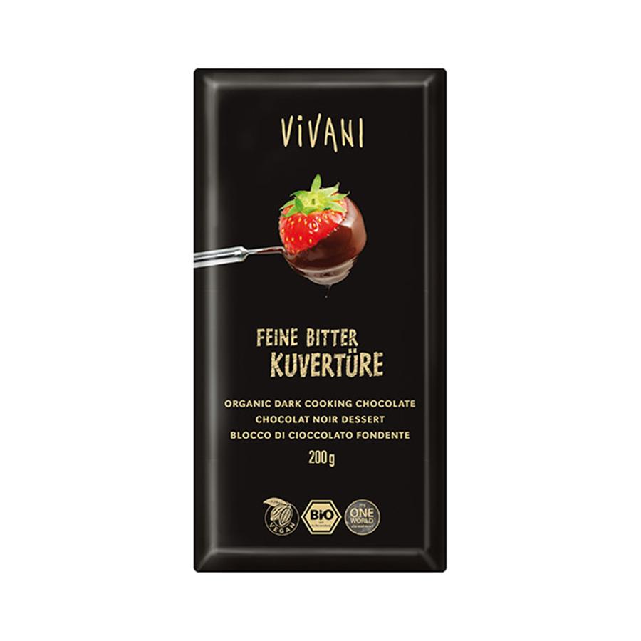 Κουβερτούρα Μαύρη 200g | Βιολογική  Vegan | Vivani