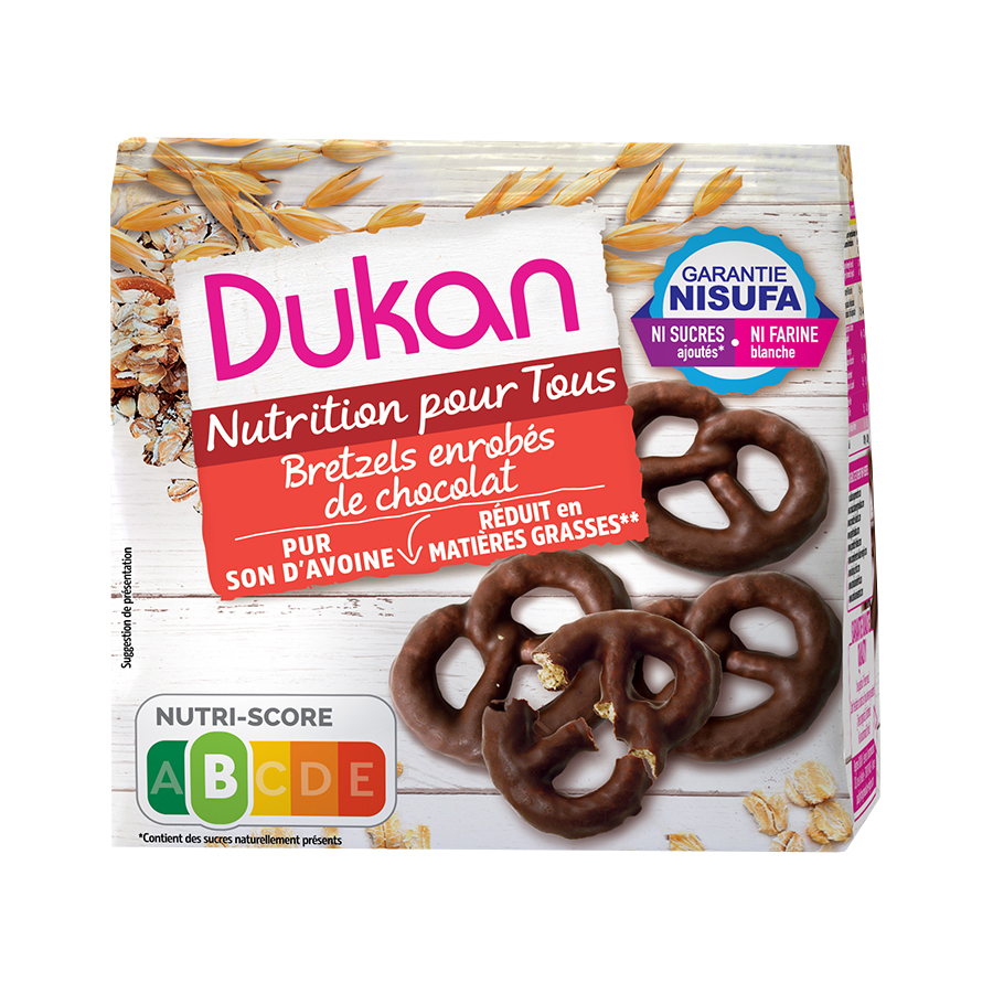 Dukan Pretzels Βρώμης με Επικάλυψη Σοκολάτας 100g | Χωρίς Ζάχαρη Λίγες Θερμίδες | Dukan