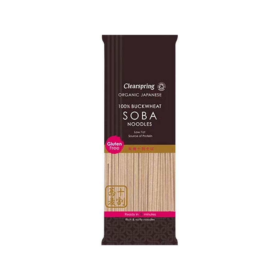 Βιολογικά Soba Noodles με Φαγόπυρο Ολικής 200g | Χωρίς Ζάχαρη Χωρίς Αλάτι Vegan | Clearspring