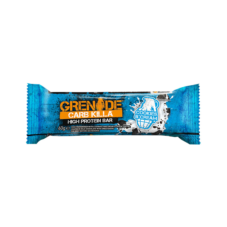 Carb Killa Μπάρες Υψηλής Πρωτεΐνης Cookies and Cream 60g | Σνάκ Χωρίς Ζάχαρη | Grenade