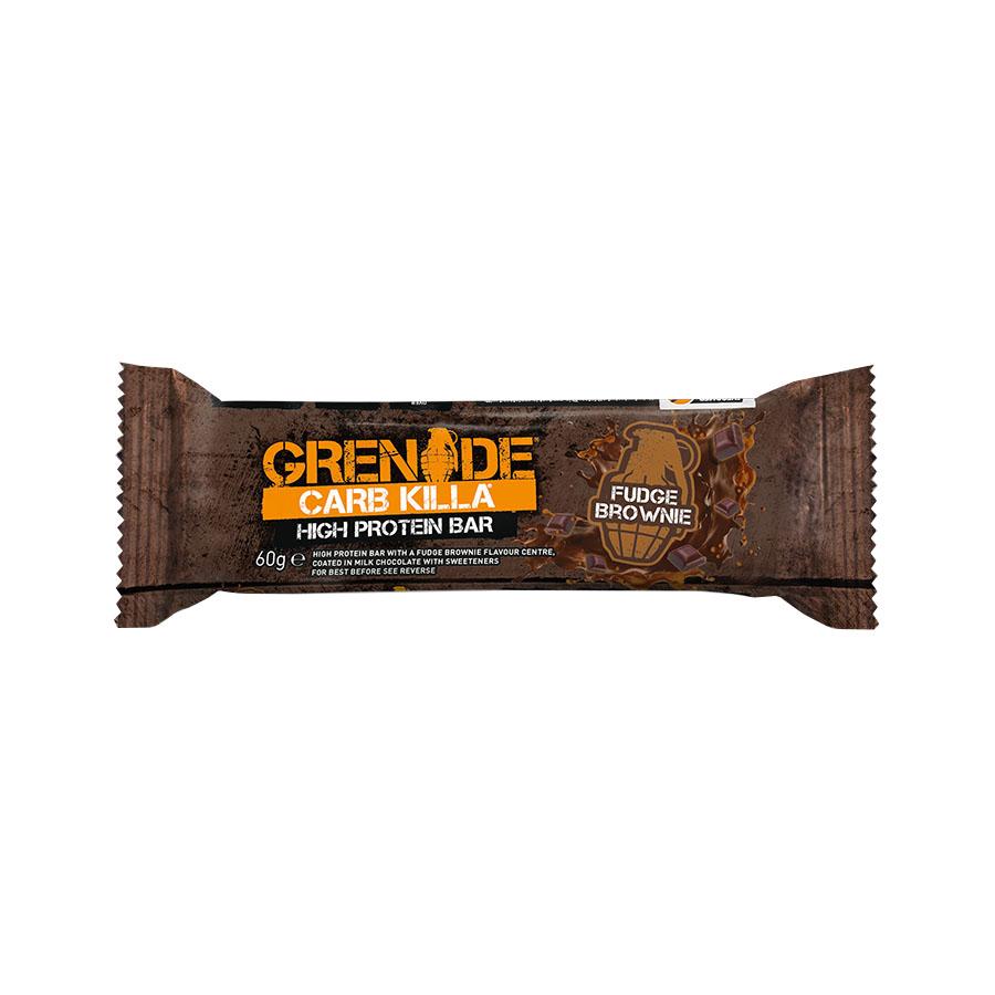 Carb Killa Μπάρες Υψηλής Πρωτεΐνης Fudge Brownie 60g | Σνάκ Χωρίς Ζάχαρη | Grenade