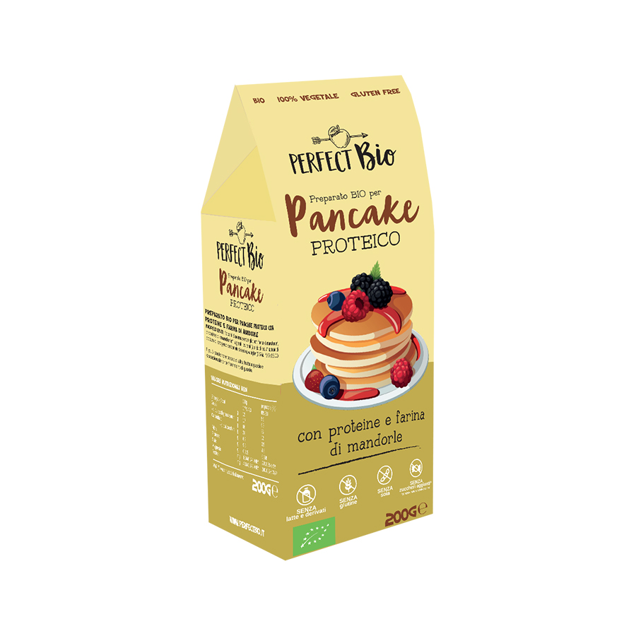 Protein Pancake Mix 200g | Gluten Free Organic Vegan No Added Sugar | Perfect Bio