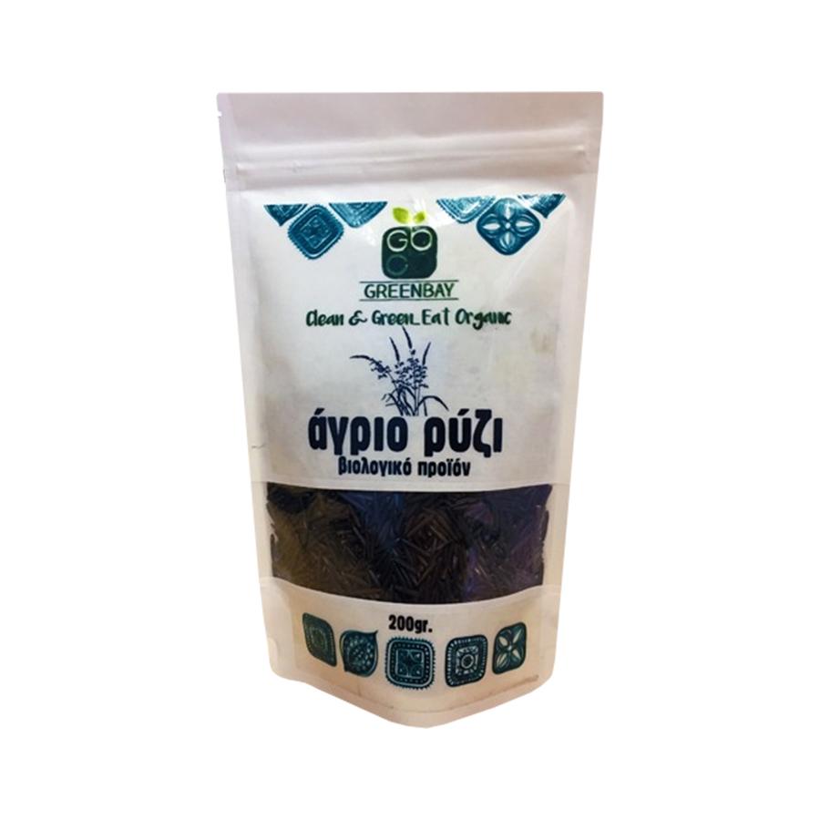 Άγριο Ρύζι 200g   Βιολογικό  Μακροβιοτικό Χωρίς Αλάτι   Greenbay