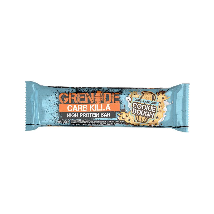 Carb Killa Μπάρες Υψηλής Πρωτεΐνης Chocolate Chip Cookie Dough 60g | Σνάκ Χωρίς Ζάχαρη | Grenade