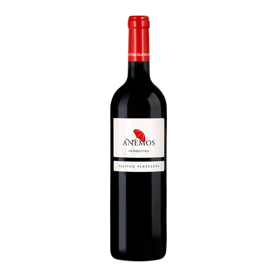 Anemos Red   PGI Peloponnese Dry Red Wine Agiorgitiko (2018) 750ml   Palivou Estate