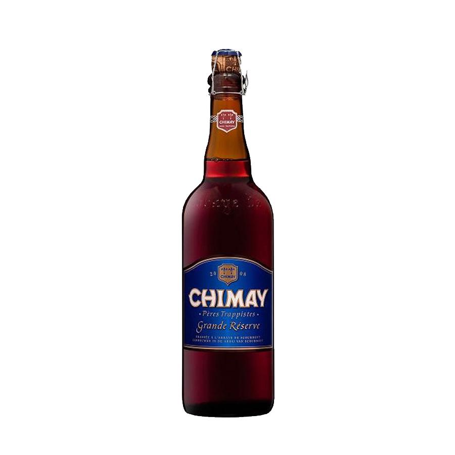 Chimay Grande Reserve Blue 750ml   Dark Brown Beer   Chimay