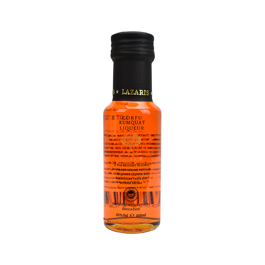 Lazaris Kumquat Liqueur P.G.I. Corfu in Gift Box 100ml | Lazaris Distillery & Artisan Sweets