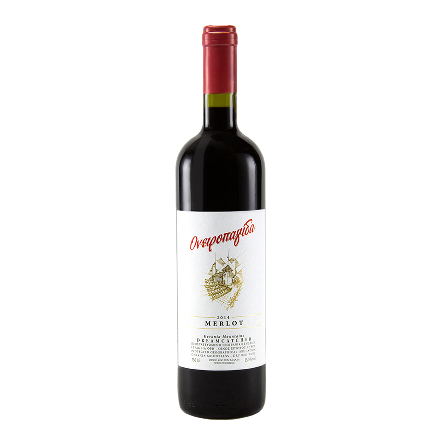 Oneiropagida Merlot   PGI Geraneia Dry Red Wine (2018) 750ml   Chateau Kaniaris