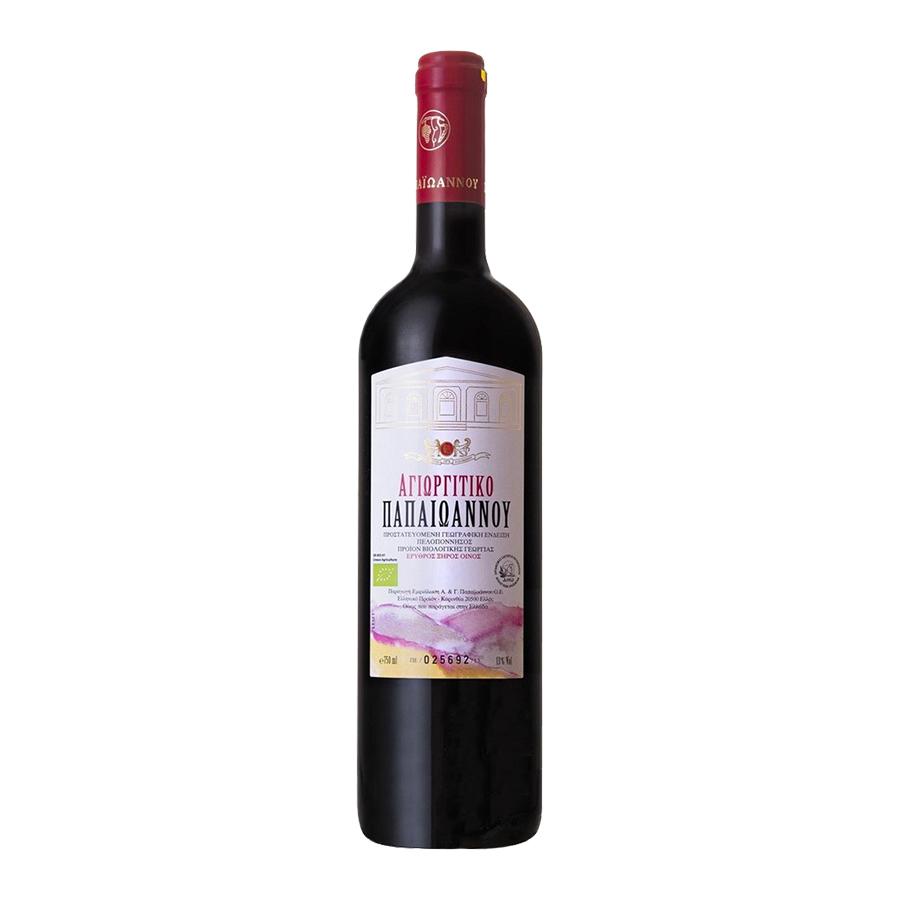 Vineyards Papaioannou Agiorgitiko Red | PGI Corinthia Dry Wine (2019) 750ml | Vineyards Papaioannou