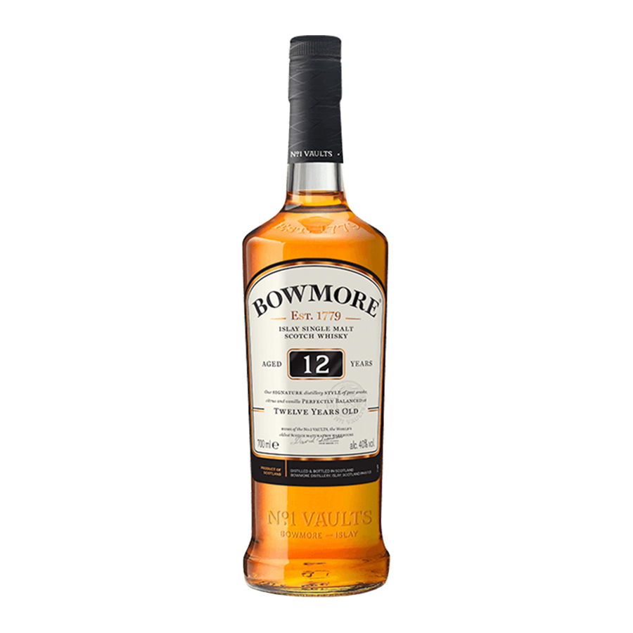Bowmore 12 Year Old No.1 Vaults 700ml | Islay Single Malt Scotch Whisky | Bowmore
