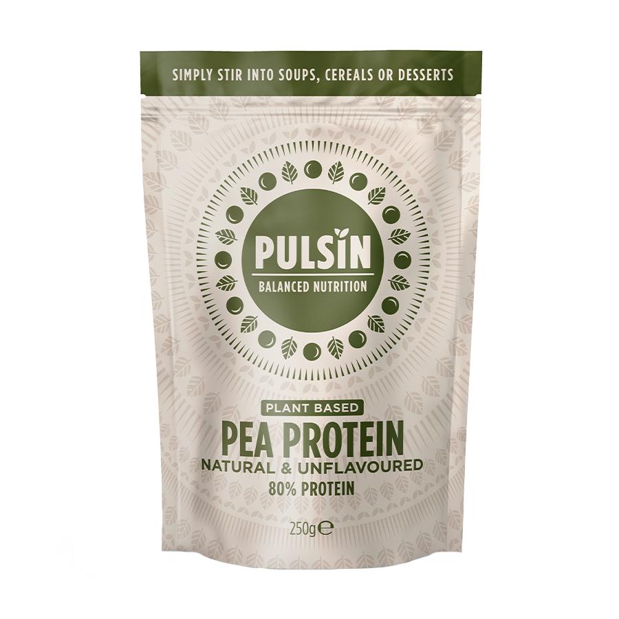 Πρωτεΐνη Αρακά 250g   Vegan Χωρίς Λακτόζη Χωρίς Ζάχαρη   Pulsin