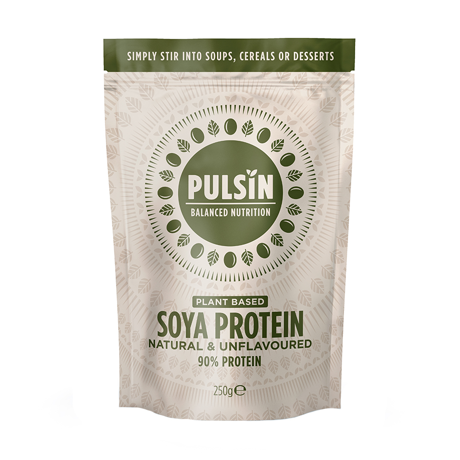 Πρωτεΐνη Σόγιας 250g | Vegan Χωρίς Λακτόζη Χωρίς Ζάχαρη | Pulsin