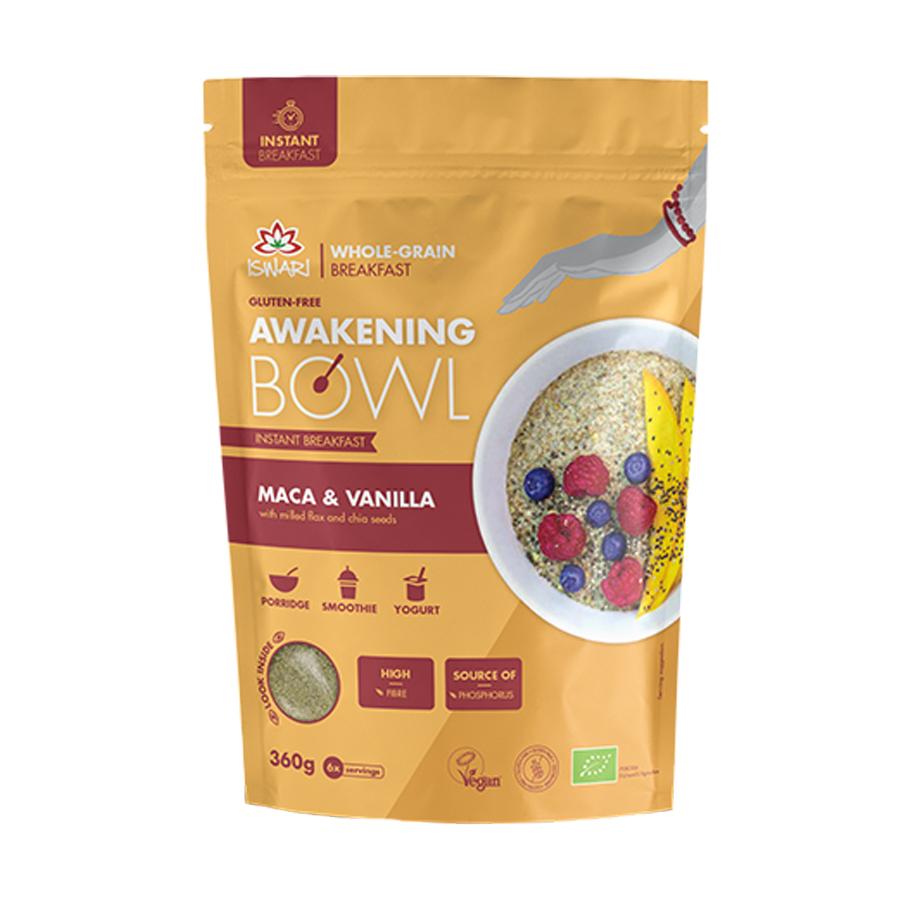 Awakening Bowl Maca and Vanilla 360g | Organic Vegan Gluten Free | Iswari
