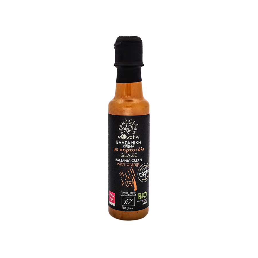 Balsamic Cream Glaze with Orange 200ml | Organic Vegan No Added Sugar | V4Vita