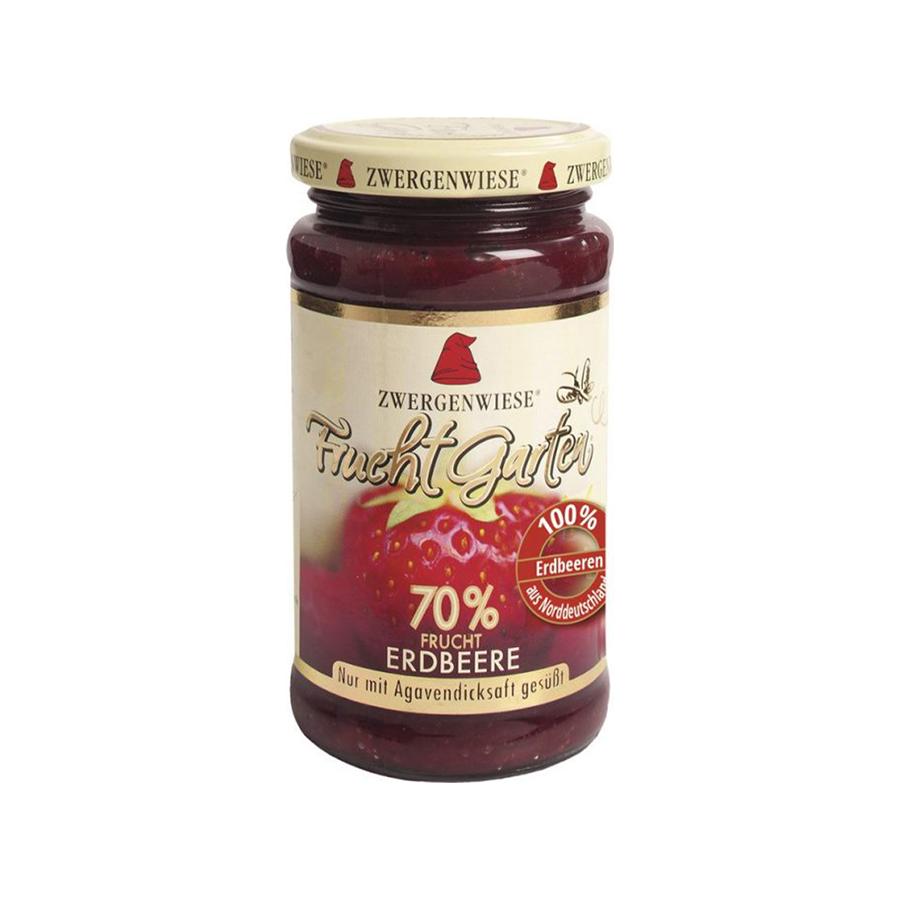 Organic Strawberry Spread 225g | Vegan No Added Sugar Gluten Free Lactose Free | Zwergenwiese