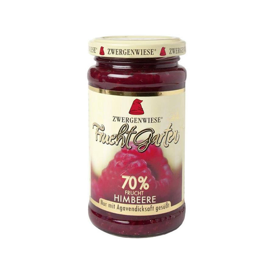 Organic Raspberry Spread 225g   Vegan No Added Sugar Gluten Free Lactose Free   Zwergenwiese