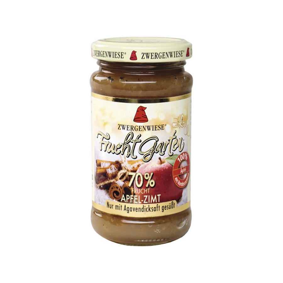 Organic Apple and Cinnamon Spread 225g | Vegan No Added Sugar Gluten Free Lactose Free | Zwergenwiese