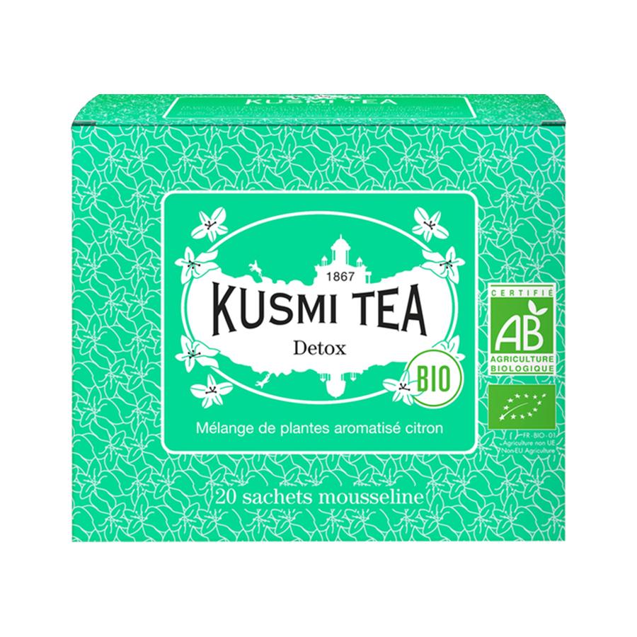 Τσάι Βοτάνων Detox 20 Φακελάκια | Βιολογικό Μείγμα Βοτάνων με Γεύση Λεμόνιού | Kusmi Tea