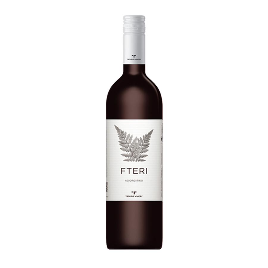 Troupis Fteri Red   PGI Peloponnese Dry Wine Agiorgitiko (2019) 750ml   Troupis Winery