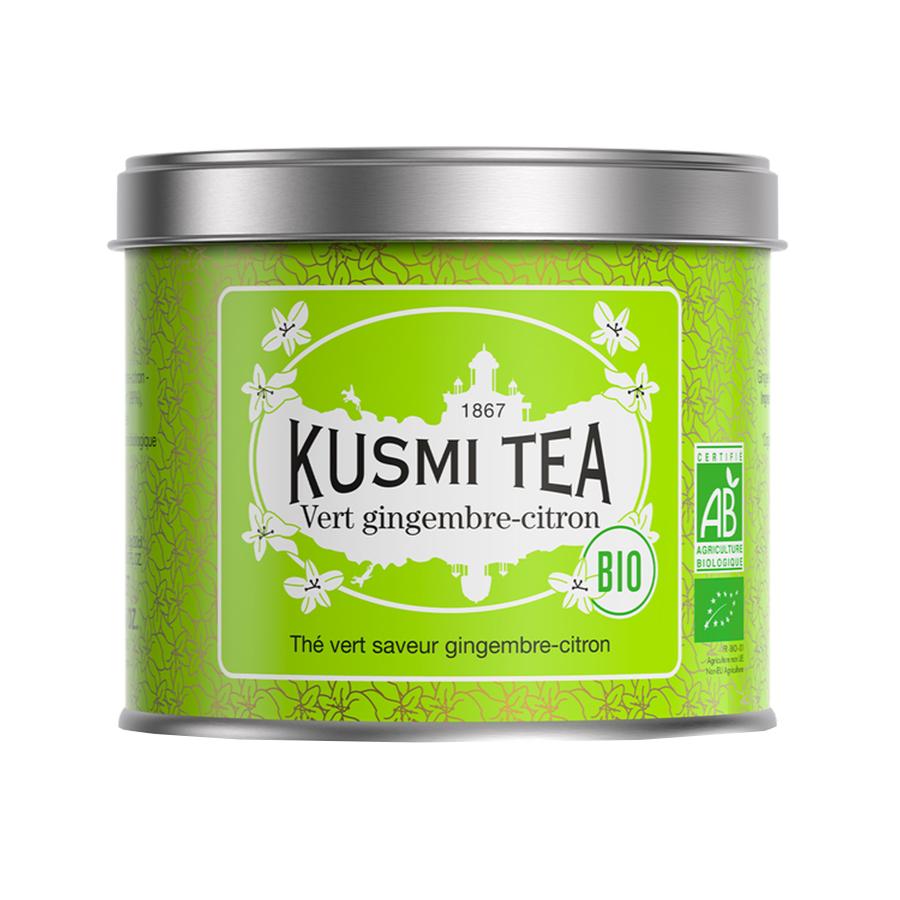 Τσάι Green Ginger Lemon 100g | Βιολογικό Πράσινο Τσάι με Τζίντζερ και Λεμόνι | Kusmi Tea