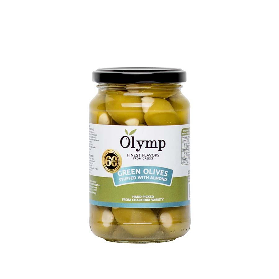 Πράσινες Ελιές Γεμιστές με Αμύγδαλο 200g - Olymp