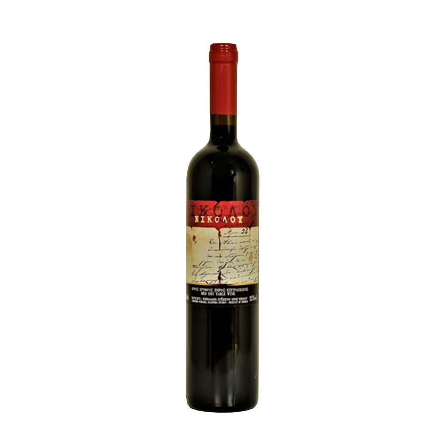 Red Wine 750ml - Nikolou Winery