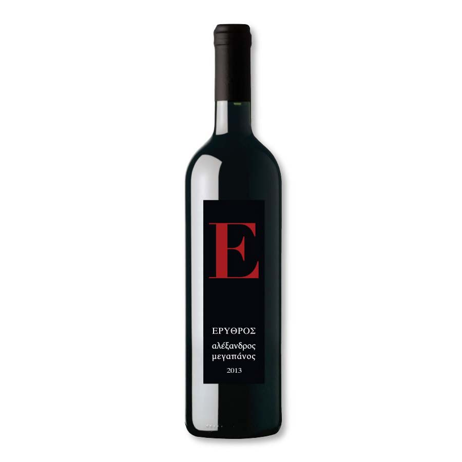 Erythros Red Wine 750ml - Megapanos Winery