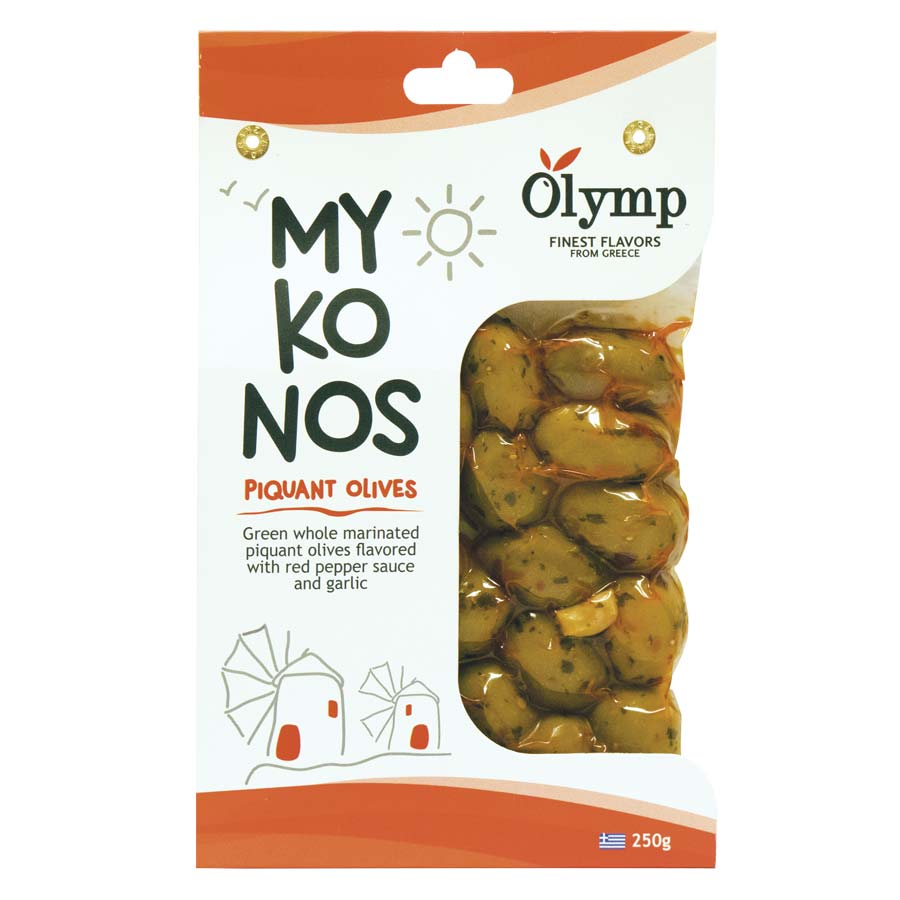 Μαριναρισμένες Ελιές Πράσινες Mykonos 250g - Olymp
