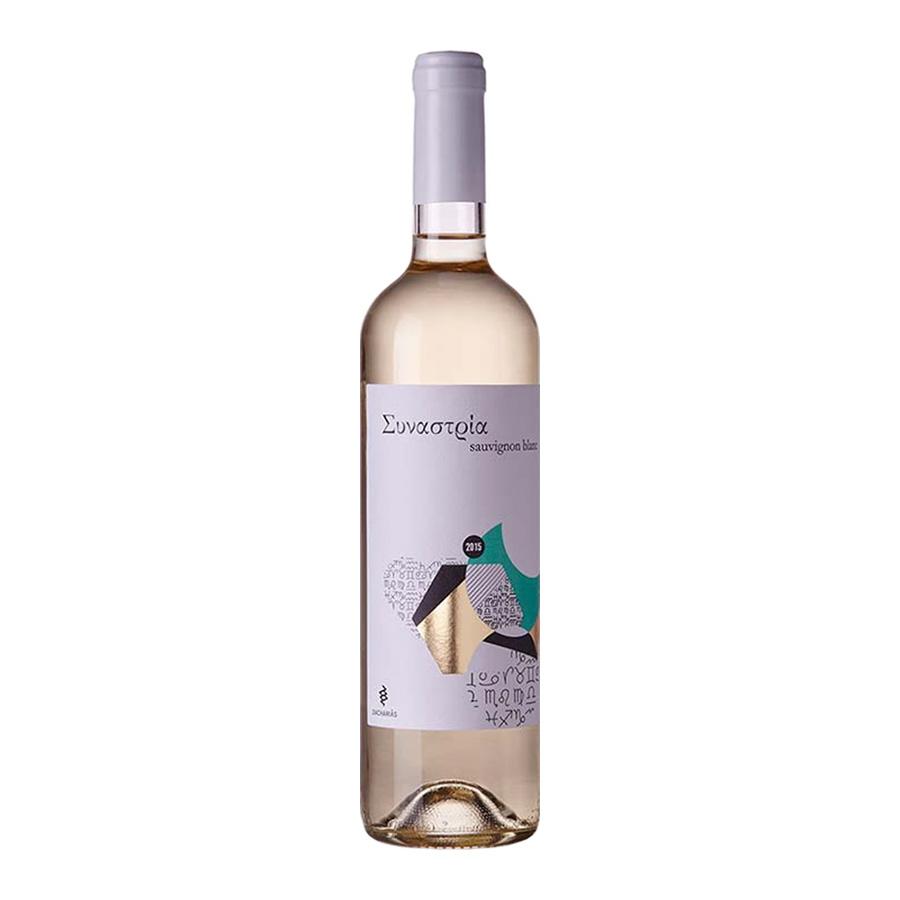 Συναστρία | ΠΓΕ Πελοπόννησος Λευκός Ξηρός Sauvignon Blanc (2017) 750ml | Αμπελώνες Ζαχαριά